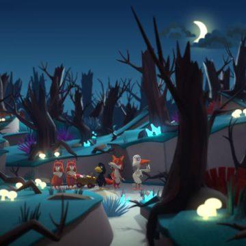 Screen shot uit De Fabeltjeskrant de Film De Grote Dierenbos Spelen