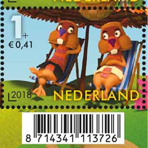 Ed en Willem Bever op de Kinderpostzegels