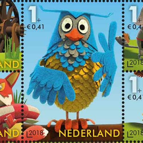 Meneer de Uil op de Kinderpostzegels in 2018
