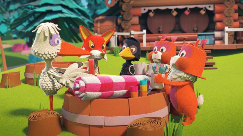 Juffrouw Ooievaar organiseert een picknick voor alle dieren uit de Fabeltjeskrant