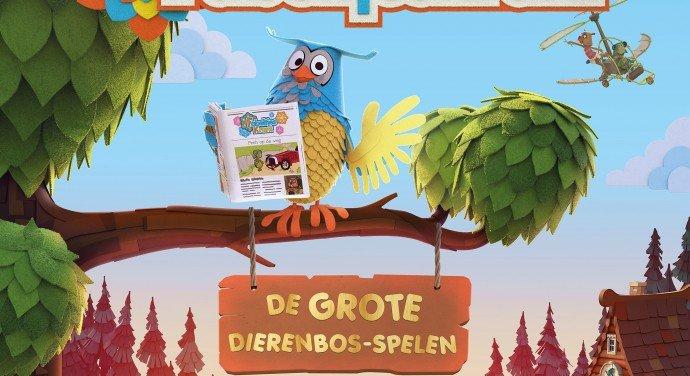 Header banner De Fabeltjeskrant De Film De Grote Dierenbos Spelen