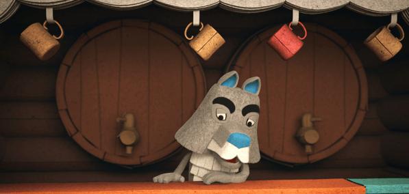Bor de Wolf uit de film De Grote Dierenbos Spelen